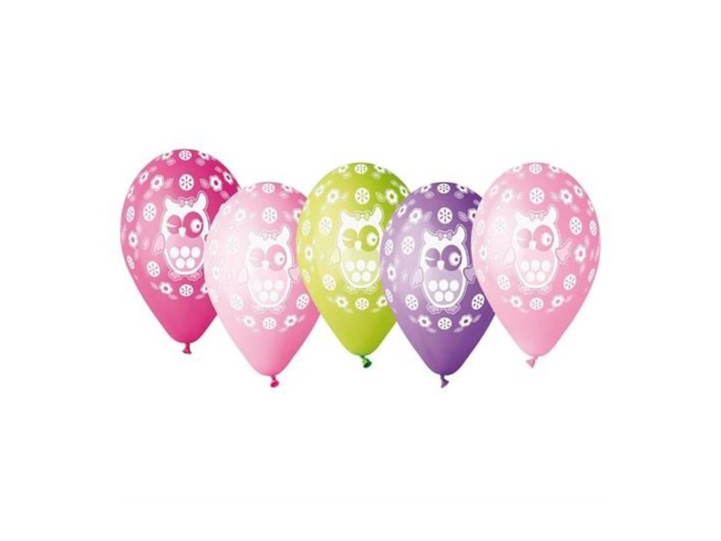 Balónky SOVA 30cm, 5ks