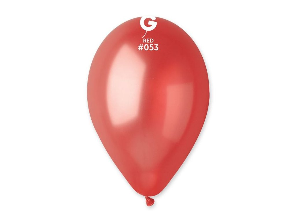 Balónky metalické 100 ks červené - průměr 26 cm