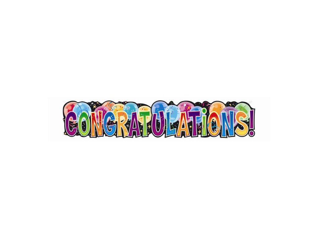 Girlanda - banner narozeniny - CONGRATULATIONS! - 132 cm
