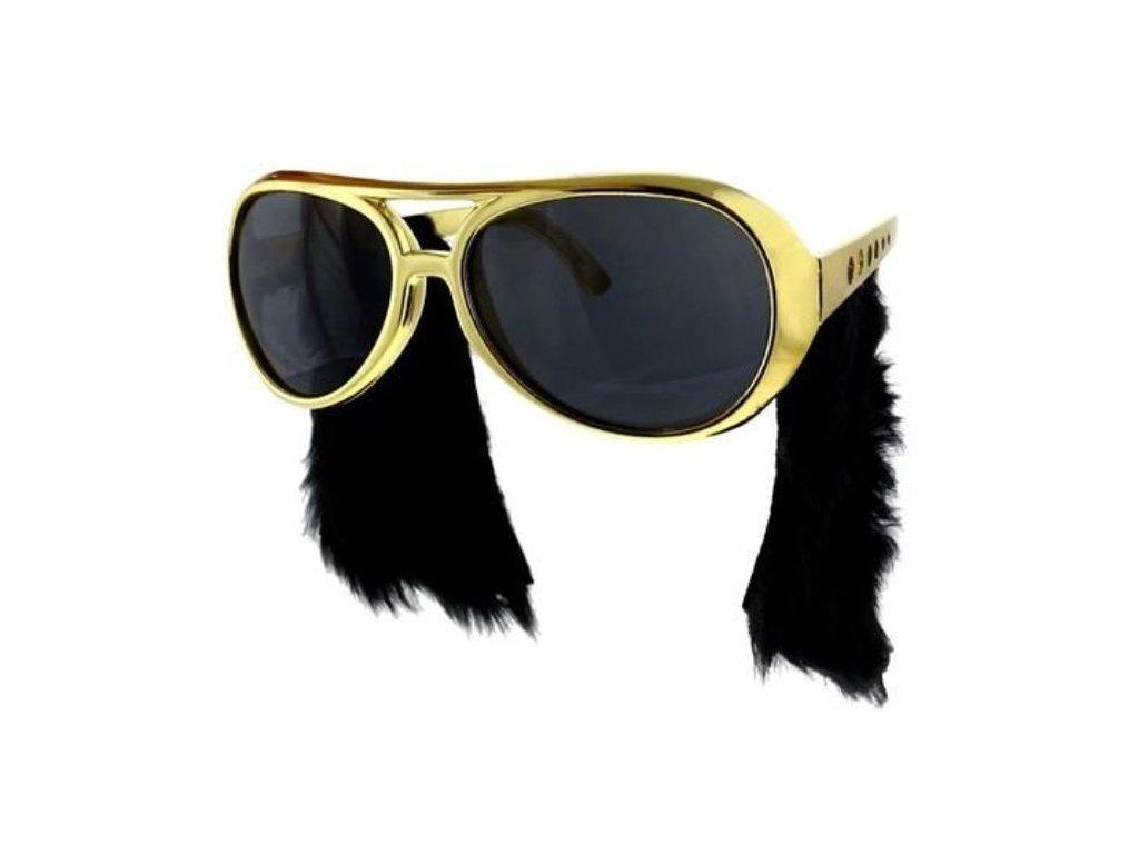 Párty brýle s kotletami ELVIS Presley - Rock and roll