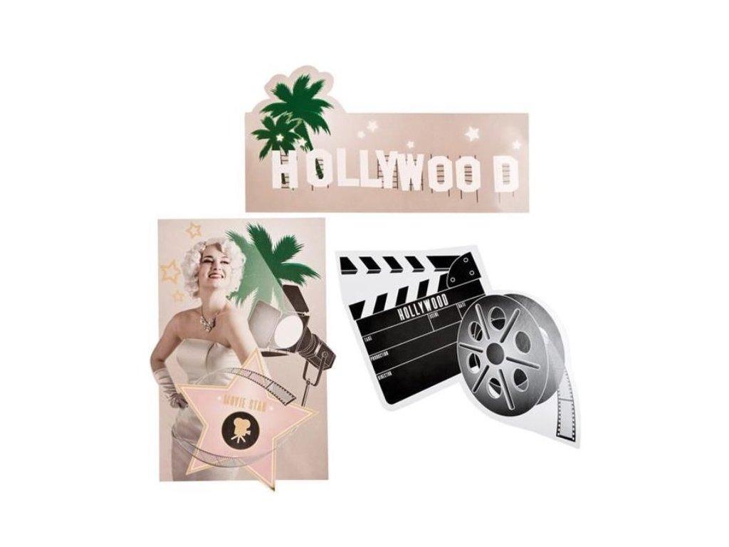 DEKORACE filmová klapka - HOLLYWOOD