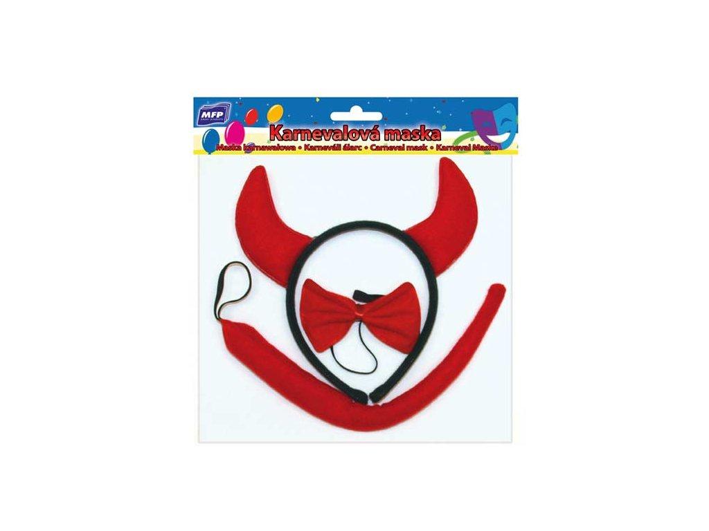 maska set 3ks ďáblík (čelenka,ocásek,motýlek) 1041473