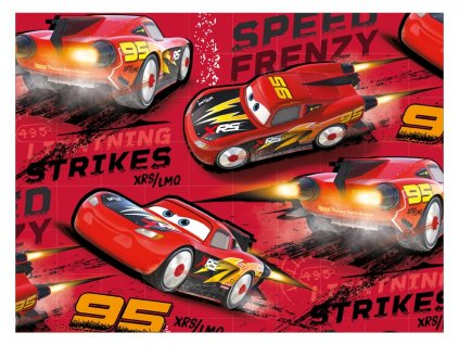 balící papír Disney Y039 (Cars) 100x70 LUX 5811449