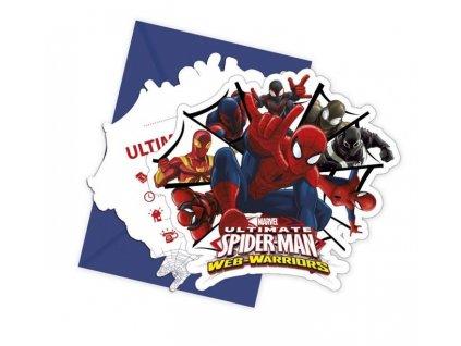 """Pozvánky s obálkami"""" Ultimate SPIDERMAN """" - 6 ks"""