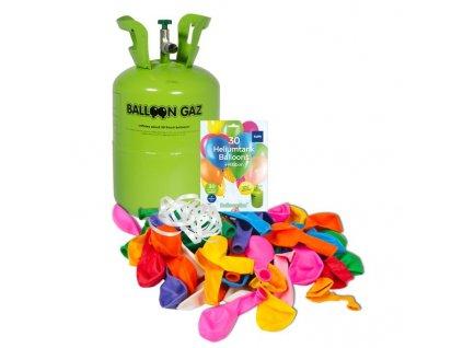 HELIUM DO 30 BALONKŮ - BALLOONGAZ JEDN. NÁDOBA 0,25m3 + balónky a stuha