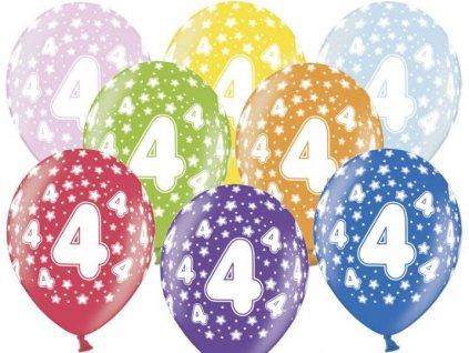 Silné Balónky 30cm metalické mix - narozeniny - Birthday No.4