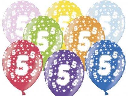 Silné Balónky 30cm metalické mix - narozeniny - Birthday No.5