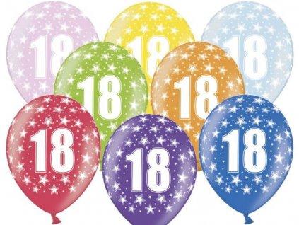 Silné Balónky 30cm metalické mix - narozeniny - Birthday No.18