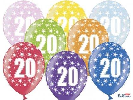 Silné Balónky 30cm metalické mix - narozeniny - Birthday No.20