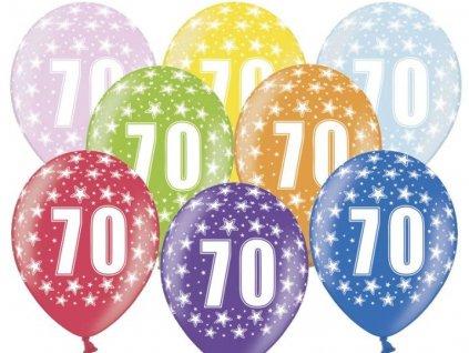 Silné Balónky 30cm metalické mix - narozeniny - Birthday No.70