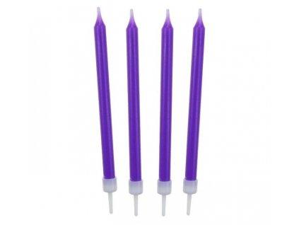 Narozeninové svíčky 8,6 cm 10 ks fialové