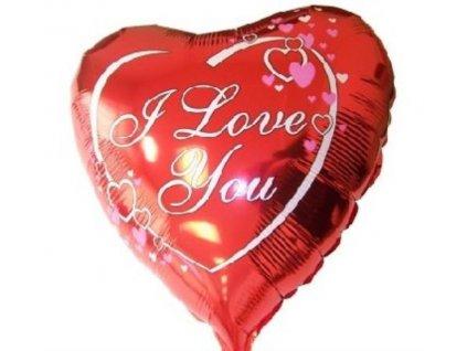 "Balón foliový 45 cm Srdce ""I LOVE YOU"" - Valentýn"