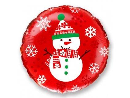 Balón foliový 45 cm SNĚHULÁK - Vánoce