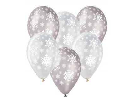 Balónky latexové 30cm - VLOČKY - Vánoce 1 ks