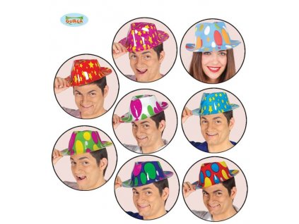 Plastový klobouk, 8 druhů
