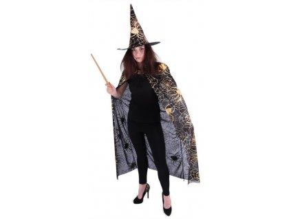 Kostým čarodějnice - čaroděj s kloboukem dospělý / HALLOWEEN