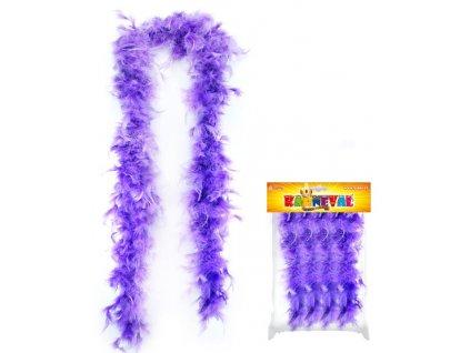 Boa s peřím fialové - 150 cm - Charlestone