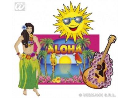 Dekorace sada havajská - Hawaii 4ks