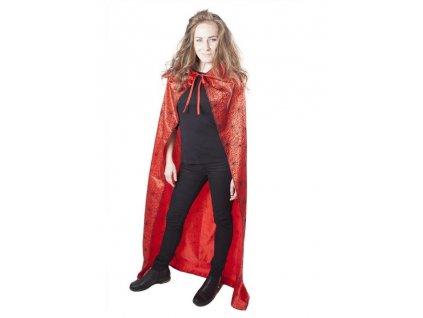 karnevalový kostým - plášť červený čarodějnice - čaroděj - Halloween