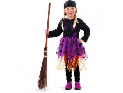 Dětský kostým čarodějnice - Halloween vel.(M)