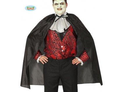 KOSTÝM - ČERNÝ PLÁŠŤ VAMPÍR - Drakula - upír -100 cm - Halloween