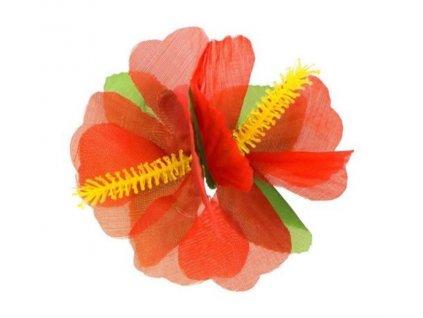 Sponka do vlasů havajská, HAWAII - červená