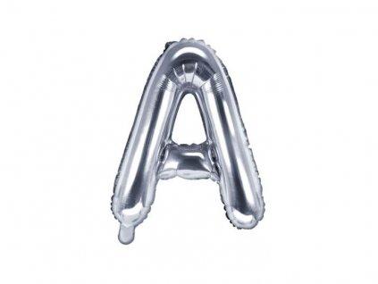 """Balón foliový písmeno """"A"""", 35cm,STŘÍBRNÝ (NELZE PLNIT HELIEM)"""