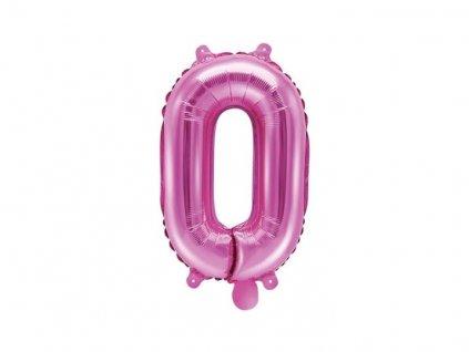 Balón foliový číslice SVĚTLE RŮŽOVÁ 35 cm -0 ( NELZE PLNIT HELIEM )