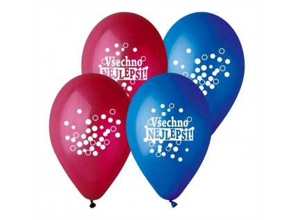 Balónek pastel 30 cm VŠECHNO NEJLEPŠÍ -mix barev - 1 ks