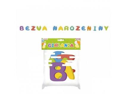 Girlanda BEZVA NAROZENINY - 250 cm