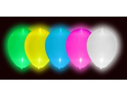 LED Svítící balónky 5 ks mix barev - 30 cm