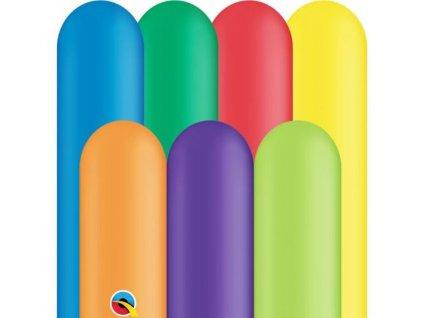 MODELOVACÍ balónky QUALATEX Q260 - karvevalový mix, 250 ks