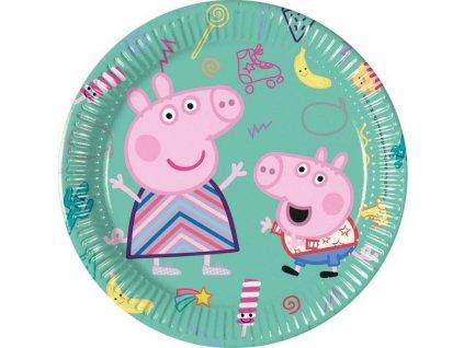 """Papírové talíře prasátko Peppa """"Peppa Pig"""", 20 cm, 8 ks"""