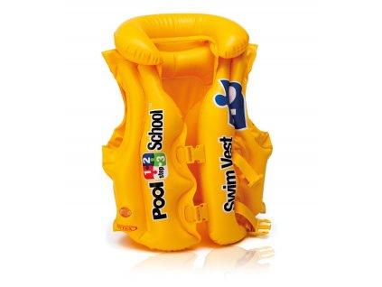 Nafukovací vesta plavací - 50 x 47 cm - žlutá - vel. (3-6 let)