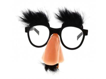 Párty brýle Profesor černé s knírem