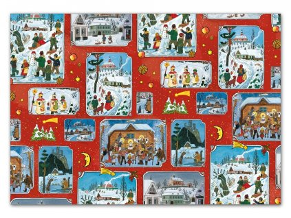 balící papír vánoční klasik Lada 4 100x70 5811466