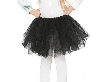 Dětská černá sukně TUTU 31cm