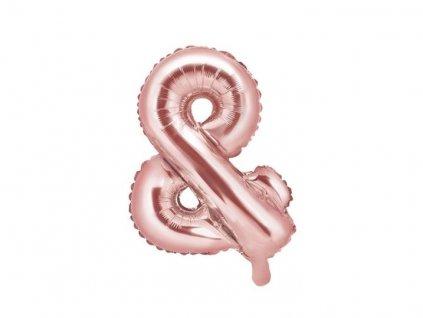 Balón foliový znak & Znak ZLATO RŮŽOVÝ - ROSE GOLD 35 cm
