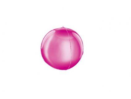 Balón foliový kulatý růžový 3D 62cm