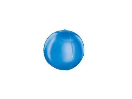 Balón foliový kulatý modrý 3D 62cm