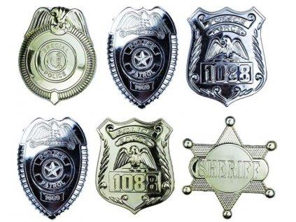 Odznak policejní 6 ks v sáčku