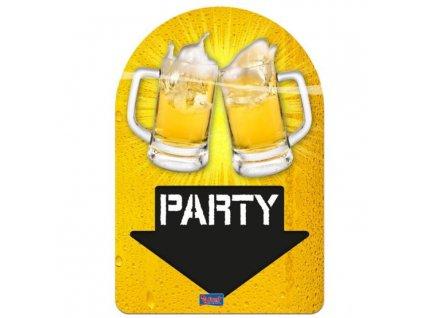 Pivní dekorace 3D Beer Party 38x58cm - Pivo - Oktoberfest