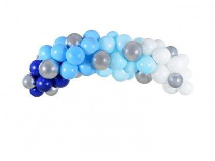 Balónková girlanda - Sada modrá 200 cm, 60 ks