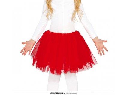 Dětská červená sukně TUTU 31cm