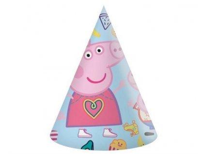 """Papírové kloboučky prasátko Peppa """"Peppa Pig"""", 6 ks"""