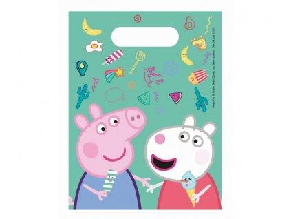 """Plastové tašky na dárečky prasátko Peppa """"Peppa Pig"""", 6 ks"""