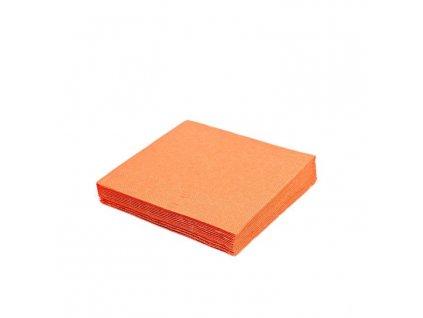 Ubrousky 33x33 cm oranžové - 20 ks - třívrstvé PARTY