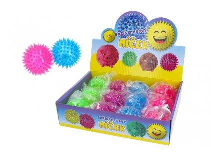 Antistresový míček W010090 - ježatý svítící