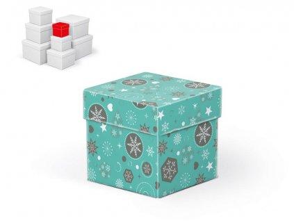 krabice dárková vánoční C-V002-A 8x8x8cm 5370701
