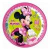 "Papírové talíře myška ""Minnie Happy Helpers"" , 23 cm, 8 ks"